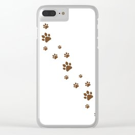 Dog Paws walk Clear iPhone Case