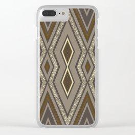 Geometric Rustic Glamour Clear iPhone Case
