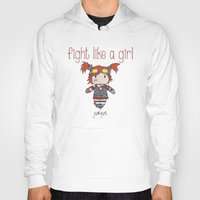 borderlands Hoodies featuring Fight Like a Girl - Borderlands 2 ~ Gaige by ~ isa ~