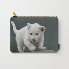 White lion cub Carry-All Pouch