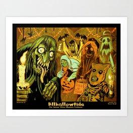 Allhallowtide 4 Halloween Poster Art Print