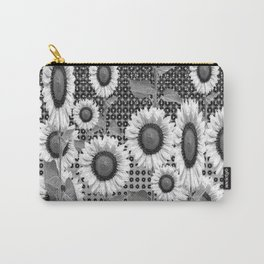 B&W NEW YORK STYLE FLORAL ART Carry-All Pouch