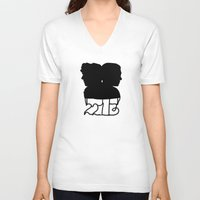 221b V-neck T-shirts featuring 221B by Jessica May