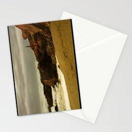 Alone on the rocks Stationery Cards