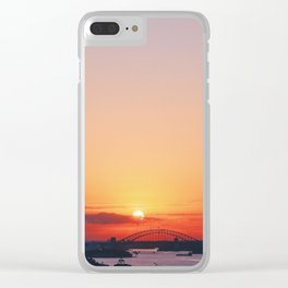 I love sunset Clear iPhone Case