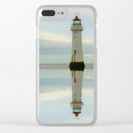 perch rock reflected Clear iPhone Case