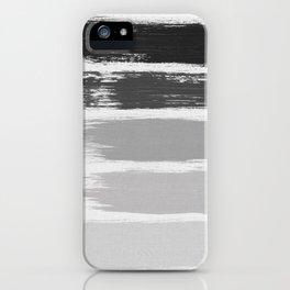Black & White Stripes iPhone Case