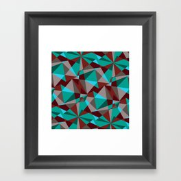 Triangle cubes Framed Art Print
