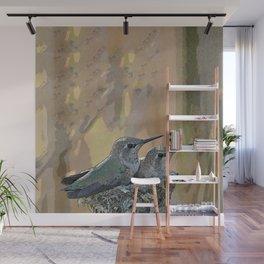 Pair of Anna's Hummingbird Fledglings Wall Mural