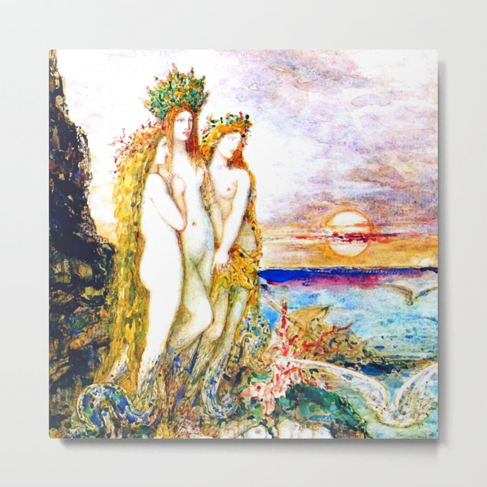 """Gustave Moreau """"The Sirens"""" Metal Print"""