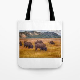 Bison at Yellowstone Tote Bag