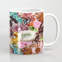 donuts Mugs featuring Donuts by Tina Mooney