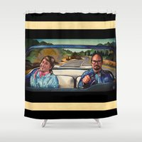 law Shower Curtains featuring The Law by Brittany W-Smith