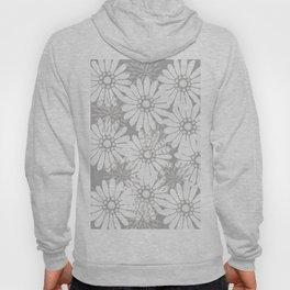 Summer Flowers Grey Hoody