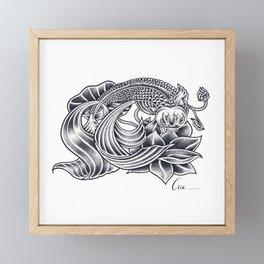 Koi and Lotus - Courage and Beauty Framed Mini Art Print