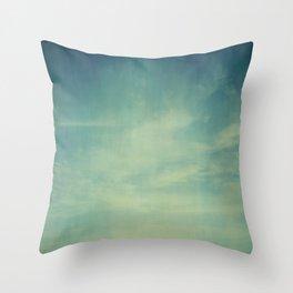 Sky Blue Throw Pillow