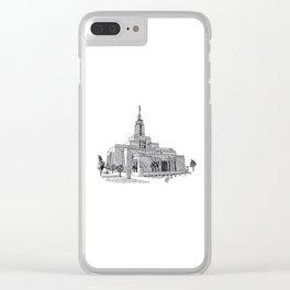 Draper Utah LDS Temple Clear iPhone Case