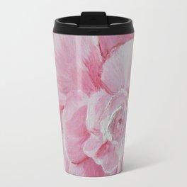 Pink Camelia Macro Travel Mug