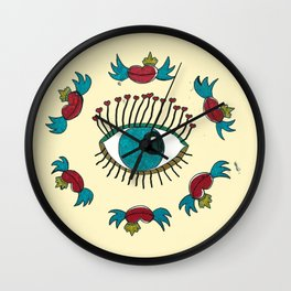 SEE LOVE IN THE AIR Wall Clock