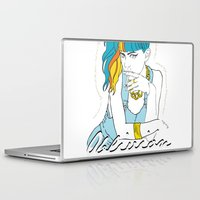 grimes Laptop & iPad Skins featuring GRIMES OBLIVION by nufertity