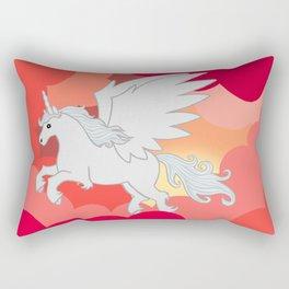 Alicorn at Sunset Rectangular Pillow