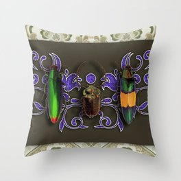 TRILOGY BEETLES I Throw Pillow