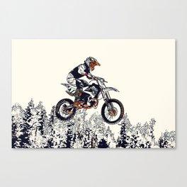 """High Flyer"" Motocross Racer Canvas Print"