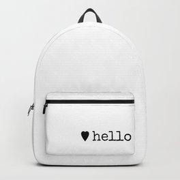 A Warm Hello Backpack