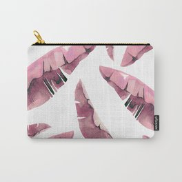 Banana Leaves 2 Pink Carry-All Pouch