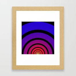 Blue, Red, and Yellow Circles Framed Art Print
