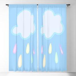Pastel Rainbow Rain Cloud Blackout Curtain