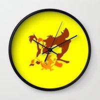 hakuna Wall Clocks featuring Hakuna Matata by emodist