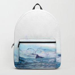 Indigo Abstract Painting | No.6 Backpack