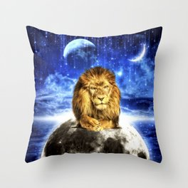 Grumpy Lion Throw Pillow