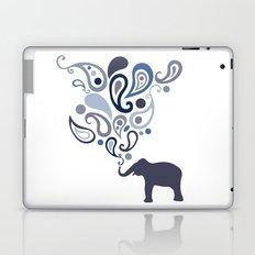 Multi-Blue Paisley Elephant Pattern Design Laptop & iPad Skin