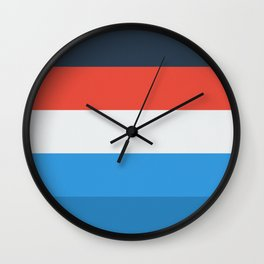 Stripey pattern Wall Clock