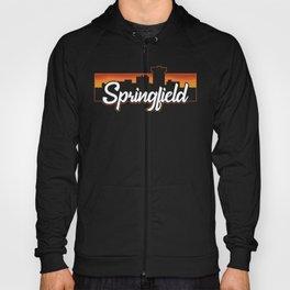 Vintage Springfield Missouri Sunset Skyline T-Shirt Hoody