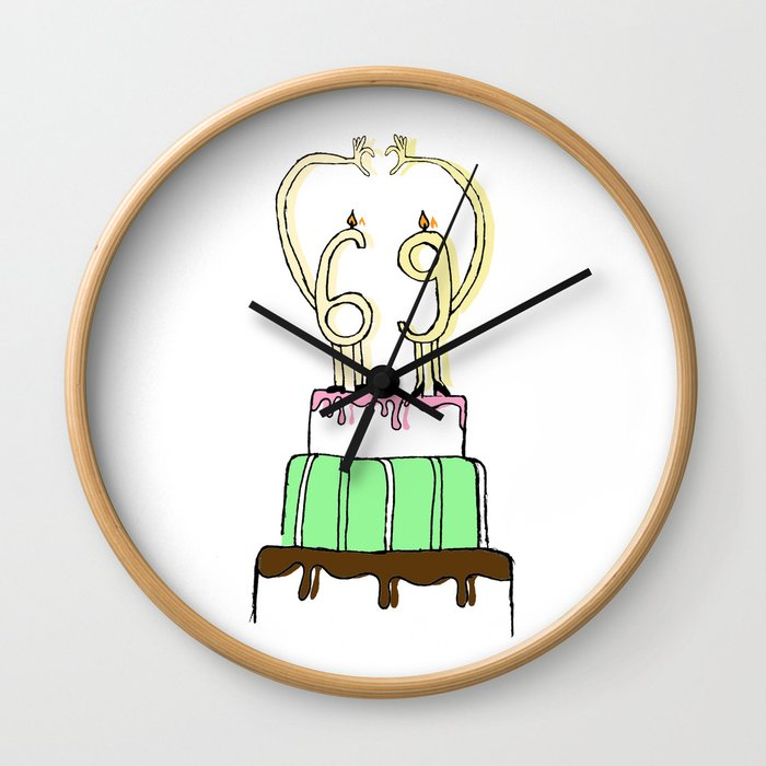 LOVE 69 Wall Clock