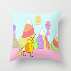 Candycorn Throw Pillow