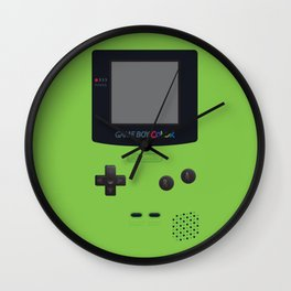 GAMEBOY Color - Green Wall Clock