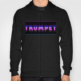 Retro 80s TRUMPET Design | Marching Band Hoody