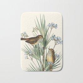 Little Birds and Flowers III Bath Mat