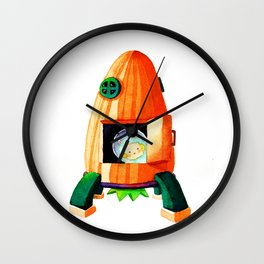 Carrot rocket Wall Clock