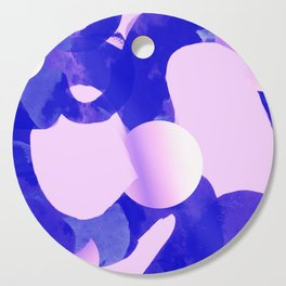 Abstract tube *Connection *Purple/pink Cutting Board
