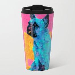 Waiting for human, dog friend Travel Mug