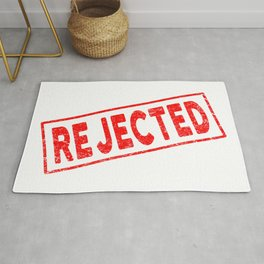 Rejected Red Rubber Stamp Rug