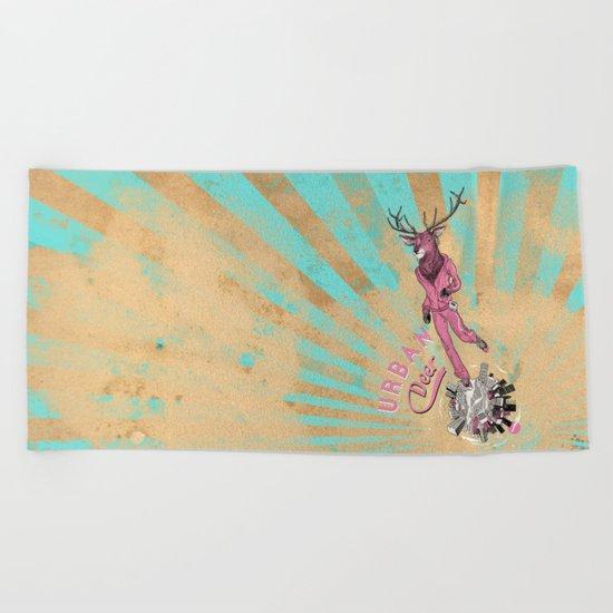 Urban Deer Beach Towel