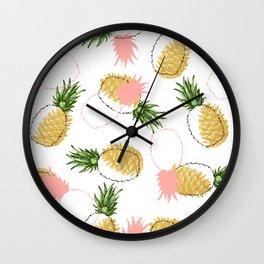 Pineapples & Pine Cones #society6 #decor #buyart Wall Clock
