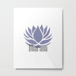 Dharana - 8 limbs of yoga Metal Print