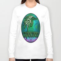 astrology Long Sleeve T-shirts featuring Capricorn Zodiac Sign Astrology by CAP Artwork & Design